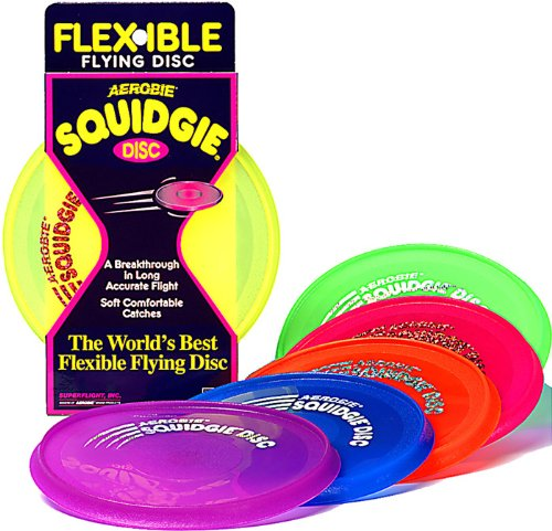 Aerobie Squidgie Disc Glow in the Dark Flying Disc - Colors May ()