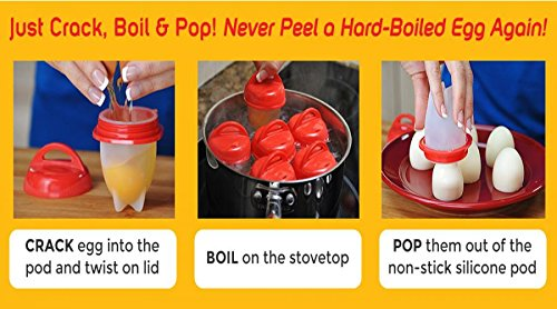 Non stick – Silicone Egg-Inserts! Get Hard Boiled Eggs Without The Shell! AS SEEN ON TV!!! NEW!!