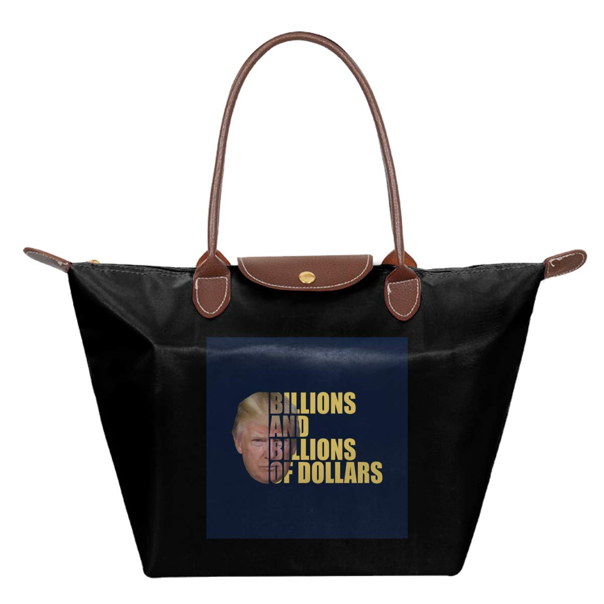 Donald Trump Half Head Text Waterproof Leather Folded Messenger Nylon Bag Travel Tote Hopping Folding School Handbags