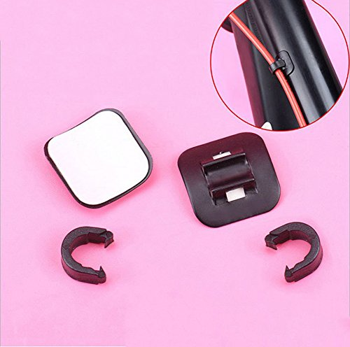 C Pioneer 2pcs MTB Bike Bicycle Brake Cable Guide Fitting Line Tube Housing Base Clip
