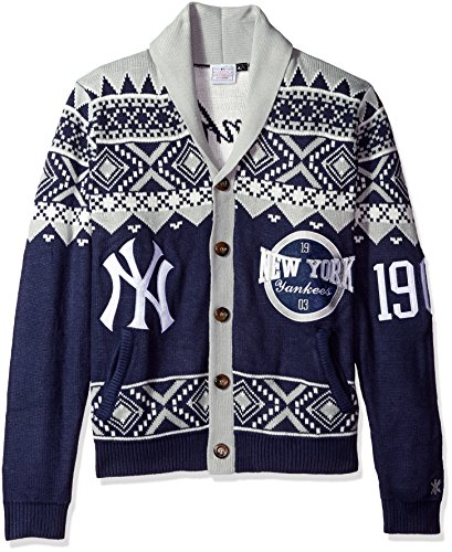 MLB Boston Red Sox Men's 2015 Ugly Cardigan Sweater