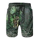 WIEYe Men's Beach Pants Shorts Flag of Korea Swimming Trunks Swimwear Quick-Drying