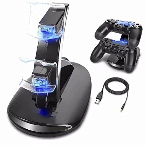 Ozvavzk Ps4 Controller Charger  Sony Playstation 4 Ps4 Ps4 Pro Ps4 Slim Controller Charger Charging Docking Station Stand
