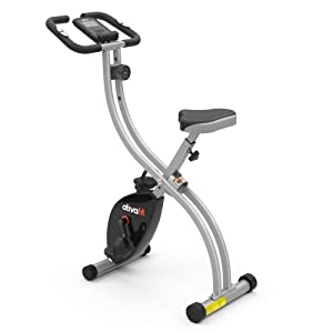 ATIVAFIT Indoor Cycling Bike Folding Magnetic Upright Bike Stationary Bike Recumbent Exercise Bike
