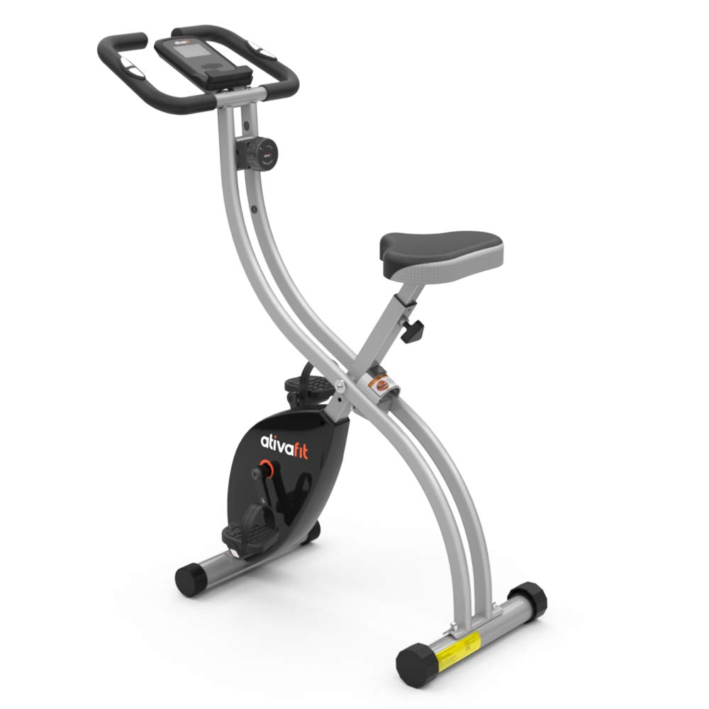 ATIVAFIT Indoor Cycling Bike Folding Magnetic Upright Bike Stationary Bike Recumbent Exercise Bike (Grey) by ATIVAFIT (Image #1)