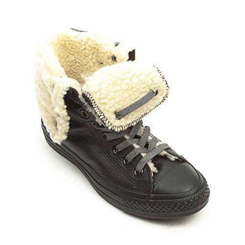 Converse Ctas Knee Hi - Zapatillas de Deporte de cuero mujer negro - Schwarz