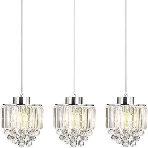 COTULIN Set of 3 Polished Decorative Crystal Pendant Light,Chandelier