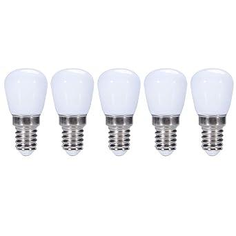 ZFQ 5 Unidades E14 3W Bombillas LED Plástico para nevera/campana ...