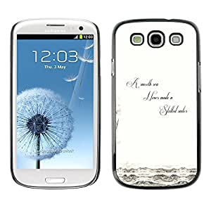 SAMSUNG Galaxy S3 III / i9300 / i747 , Radio-Star - Cáscara Funda Case Caso De Plástico (Smooth Sea - Life Wisdom)