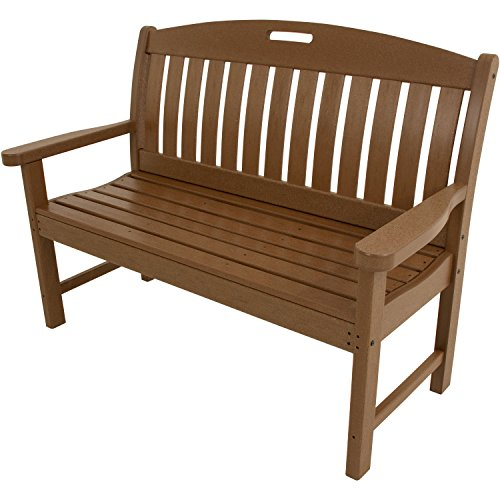 Teak Porch Furniture (Hanover Outdoor Furniture HVNB48TE Avalon All Weather Porch Bench, 48