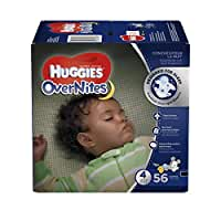 HUGGIES OverNites Diapers, Size 4, 56 ct., Overnight Diapers