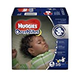 HUGGIES OverNites Diapers, Size 4 for 22-37 lbs., Pack of 56 Overnight Baby Diapers
