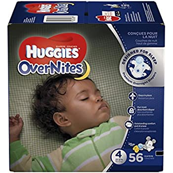 HUGGIES OverNites Diapers, Size 4, 56 ct., Overnight Diapers (Packaging May Vary)