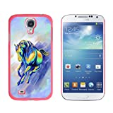 Graphics and More Snap-On Hard Protective Case for Samsung Galaxy S4 - Horse Running Abstract - Painterly Expressionism - Non-Retail Packaging - Pink