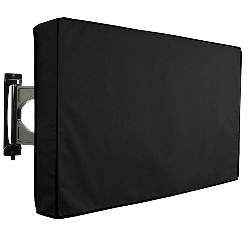 Outdoor TV Cover 55-58 Weatherproof Universal Protector and Dust-Proof with Bottom Cover for LCD,LED Plasma Television Screens,Most Wall Mounts and Stand Compatible (Black)