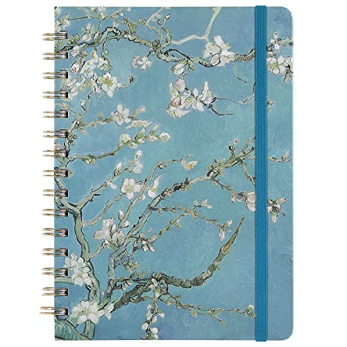 "Ruled Journal/Notebook- Lined Journal, 6.3"" X 8.35"", Hardcover, Back Pocket, Strong Twin-Wire Binding with Premium Paper, College Ruled Spiral Notebook/Journal, Perfect for School, Office & Home"