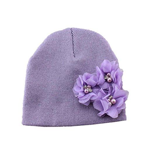PHOTNO Flower Toddlers Infant Baby Girl Lace Hair Band Headband Headwear Hat (Purple) (Roman Head Wear)