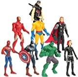Rvold 8 In 1 Twist and Move Avengers Super Heros Action Figure Play Set and Cake Topper