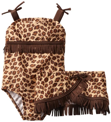 One-Piece Leopard Print Bathing Suit for Toddler Girls