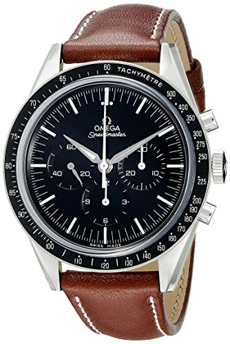 Omega Men's 31132403001001 Analog Display Mechanical Hand Wind Brown ()