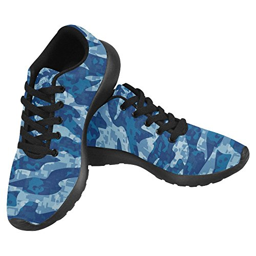 InterestPrint Womens Jogging Running Sneaker Lightweight Go Easy Walking Casual Comfort Sports Running Shoes Navy Tiger Stripe Camouflage Pattern Multi 1