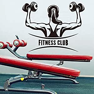 Rureng Mancuernas Femeninas Fitness Club Etiqueta De La Pared Para Mujeres Barbell Gym Arm Fitness Ejercicio Deporte Decoración De La Pared De La Pared Arte ...