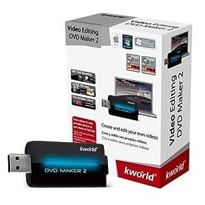 Kworld DVD Maker 2 - Capturadora de video externa (720p, USB 2.0, NTSC/PAL, MPEG 4/2/1)