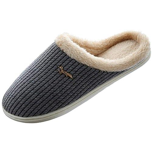 E panda Pantuflas - Unisex Zapatillas Calentitas Suela TPR Antideslizante Zapatillas Estar por Casa Hombre Mujer
