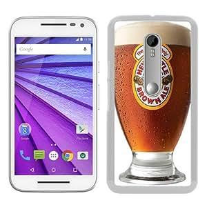 Personalized Custom Moto G 3rd Case,Newcastle Brown Ale White Motorola Moto G 3rd Generation Phone Case