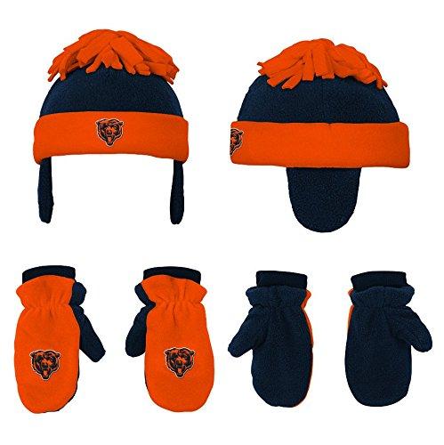 - NFL Toddler 2 Piece Winter Set Fleece Hat and Mittens,Chicago Bears, Deep Obsidian/Orange -1 Size
