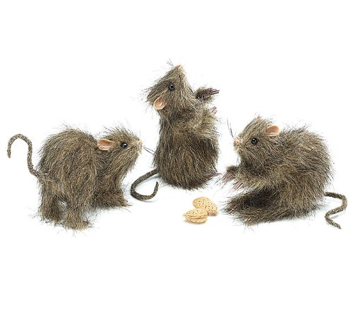 Halloween Rat Decorations Set of 3