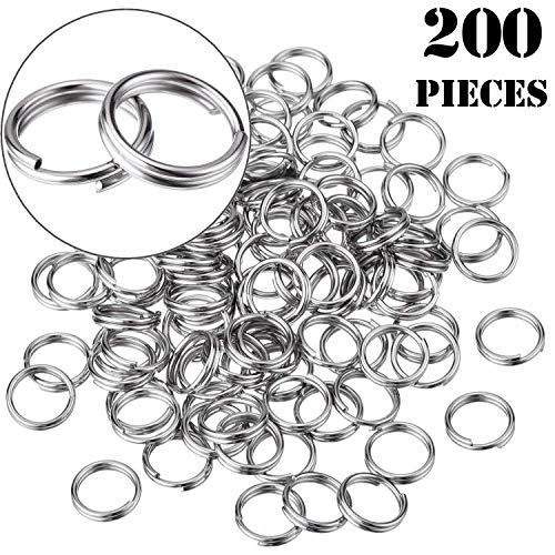 - Onwon 200 Pieces Small Split Rings Nickel Plated Key Chains Key Link Connector for Connecting Lobster Clasp, Charms, Links and Other Jewelry (10mm/ 0.39inch)
