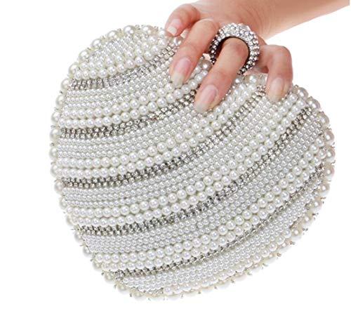 Di Sposa Sacchetto Bag Banchetto Serata Portatile Silver Discoteca Sera Borsa Donna Invece Perla Borse Squisita Moda La B18vvq