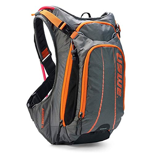 USWE Airborne 15L with accessible phone pocket (Gray/Orange) by USWE