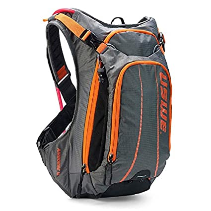 Gray//Orange USWE Airborne 15L with accessible phone pocket