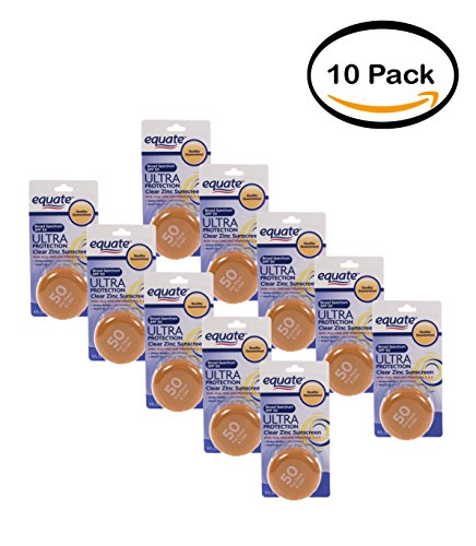 PACK OF 10 - Equate Ultra Protection Sunscreen Clear Zinc...