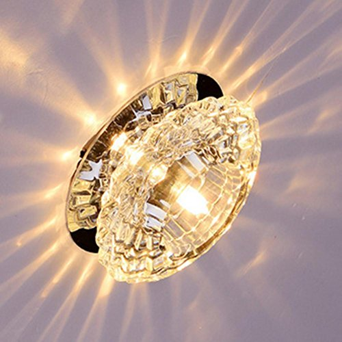Crystal Straight Ceiling Lights Downlight Lights Lights Led Ceiling Spotlight Crystal Ceiling Lamps3W , White - Spotlight Crystal