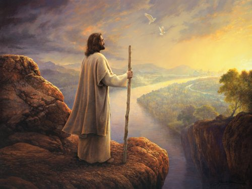 LDS Plastic Hope on the Horizon Art Temple Recommend Holder - Greg Olsen Art (Plastic Temples)