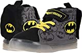 Batman Canvas Hi Top Light up Black/Yellow Sneaker/Shoes Toddler/LittleKid (9 M US Toddler)