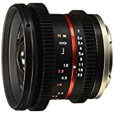 Rokinon CV12M-M 12mm T2.2 NCS CS Ultra Wide Angle Cine Lens for Canon EF-M Mount Compact System Cameras with De-Clicked Aperture and Follow Focus Compatibility, Black