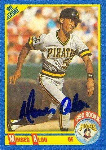 Autograph Warehouse 46463 Moises Alou Autographed Baseball Card Pittsburgh Pirates 1990 Score No .592