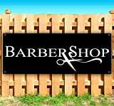 BARBERSHOP 13 oz heavy duty vinyl banner sign with metal grommets, new, store, advertising, flag, (many sizes available)