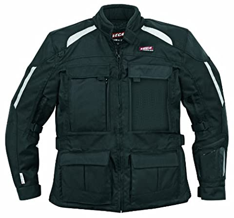Vega Technical Gear Pack Jacket (Black, X-Large) - Mens Off Road Motorcycle