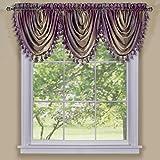 Amazon.com: Purple - Valances / Tiers, Swags & Valances: Home ...