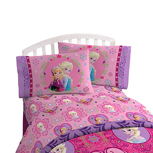 Disney Frozen Friendship 3 Piece Twin Sheet Set (Frozen Bed Twin Set)