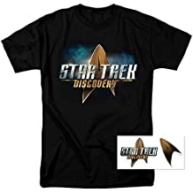 Popfunk Star Trek Discovery Logo T Shirt & Exclusive Stickers