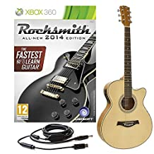 Rocksmith 2014 Xbox 360 + Single Cutaway Electro Acoustic Guitar