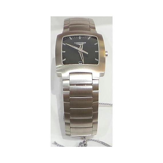 Reloj Longines Mujer l35074526 al cuarzo (batería) acero quandrante negro correa acero: Amazon.es: Relojes