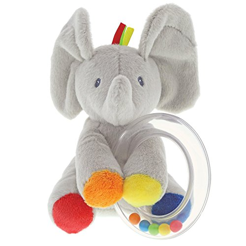 "Baby GUND Flappy the Elephant Stuffed Animal Rattle Plush Toy, 5"" (Stuffed Plush Rattle)"