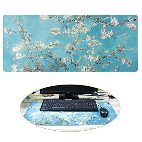 SUNNIOR Large Sized Mouse Pad Non-slip Simple Table Keyboard Mat for Game /Office/ Home